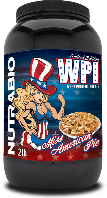 Whey Protein Isolate in the new Miss American Pie flavor.