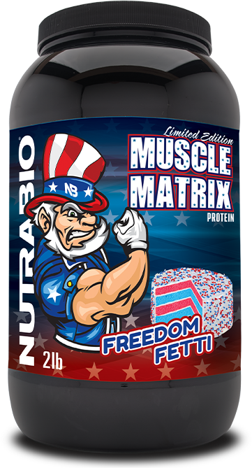 Muscle Matrix in the new Freedom Fetti flavor.