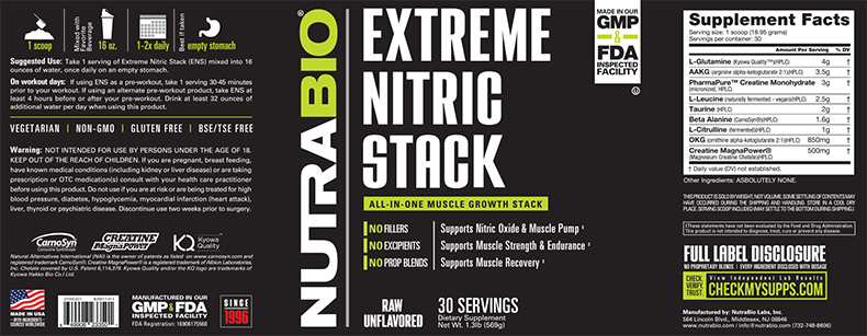 Label Image for Extreme Nitric Stack