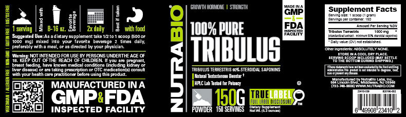Label Image for Tribulus Terrestris Powder - 150 Grams