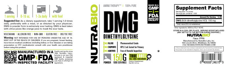 Label Image for DMG (N,N Dimethylglycine) - 150 Grams