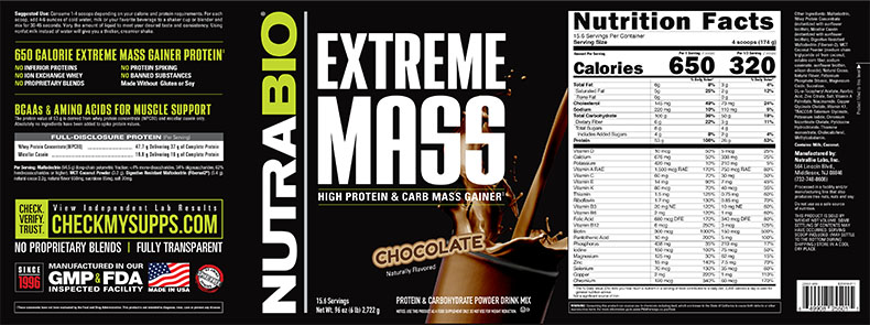 Label Image for Extreme Mass - 6lb Chocolate