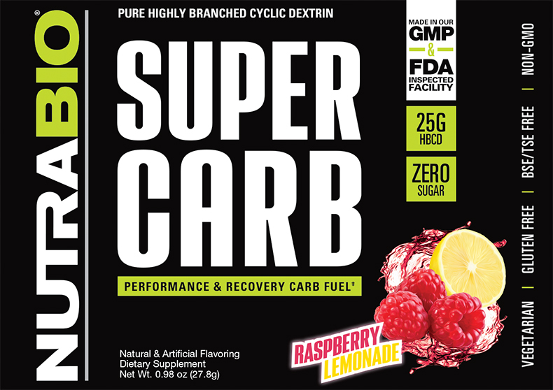 Label Image for NutraBio Super Carb - Sample Pack (Raspberry Lemonade)