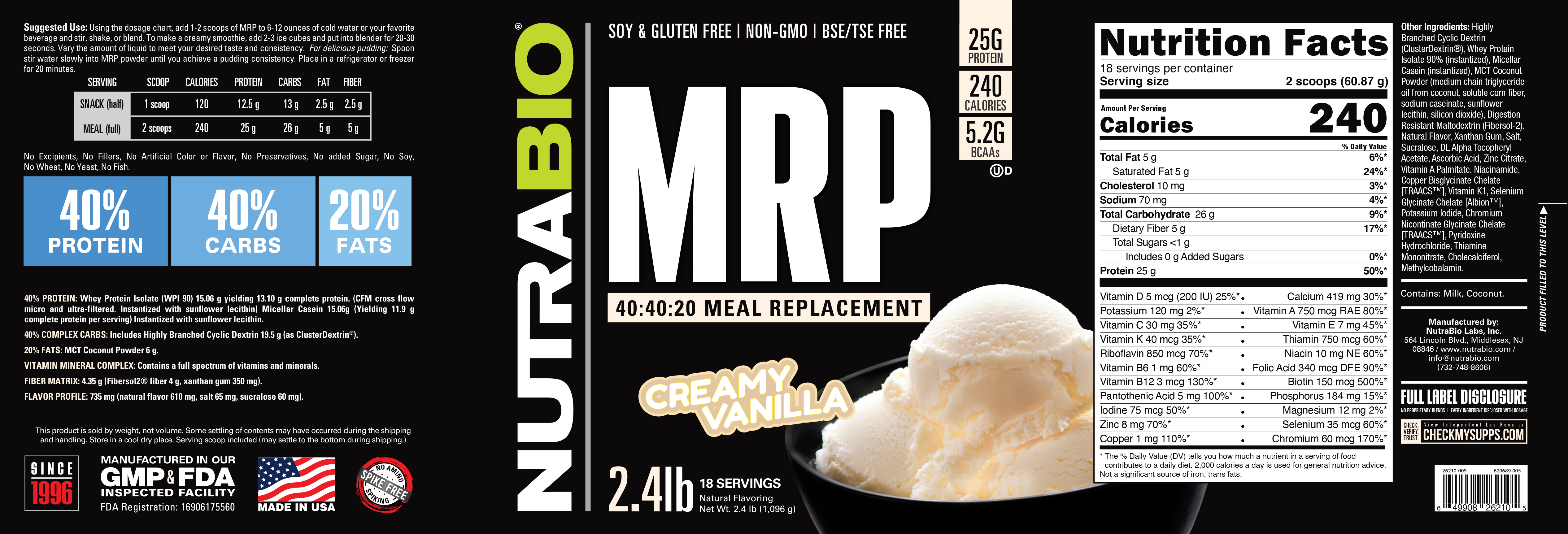 Label Image for NutraBio MRP