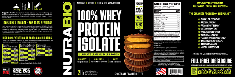 Label Image for Whey Protein Isolate - 2 Pounds
