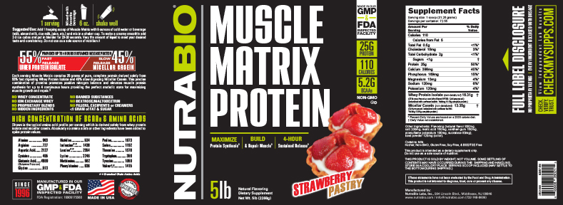 Label Image for NutraBio Muscle Matrix - 5 Pounds