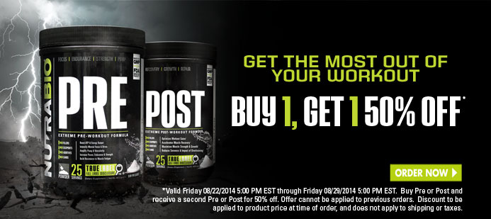 PRE and POST, Buy 1 Get 1 50% OFF! This Week Only!