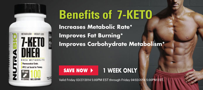 30% Off 7-Keto DHEA, this week only!