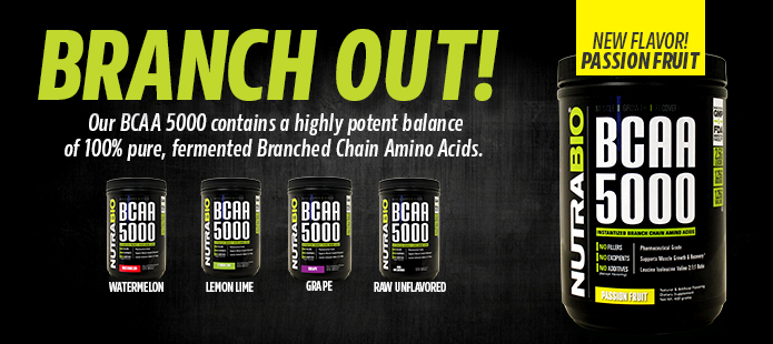 BCAA 5000, now available in Passion Fruit!