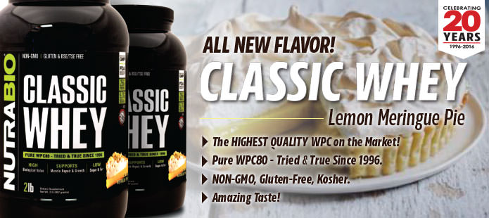 Classic Whey, now available in Strawberry!