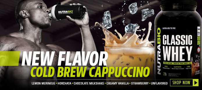 Classic Whey, now available in cold brew cappuccino!