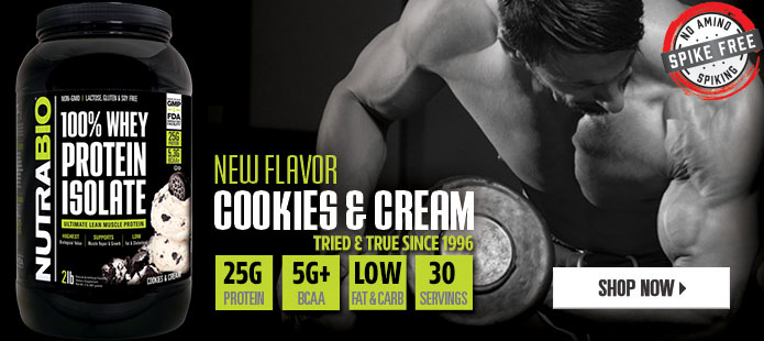 Whey Protein Isolate, now available in Cookies and Cream!