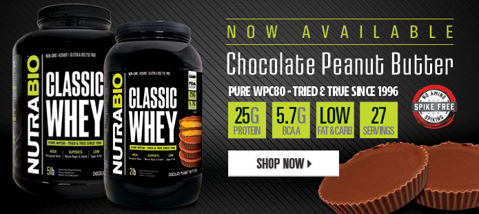 Classic Whey, now available in Chocolate Peanut Butter!