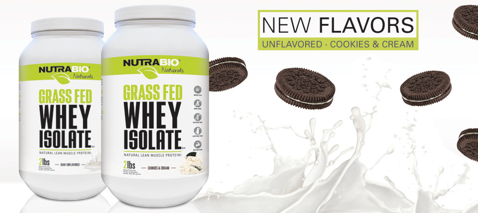 Grass-Fed Protein, now available in Cookies and Cream & Unflavored!