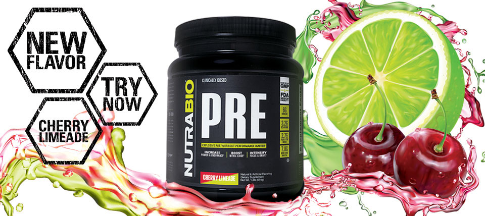 NutraBio Pre-Workout, now available in Cherry Limeade!