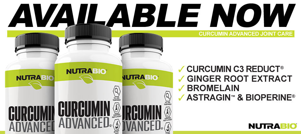 NutraBio Curcurmin now available!