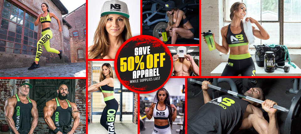 Apparel, 50% Off while supplies last!