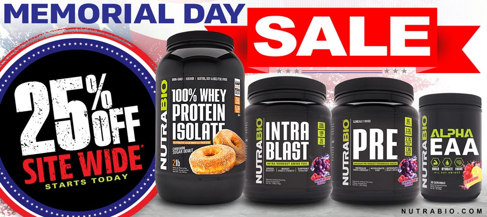 Memorial Day Sale - 25% Off Supplements and Apparel!