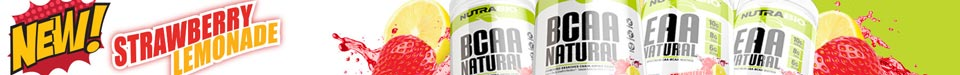 New! Strawberry Pastry flavored BCAA Natural and EAA Natural!