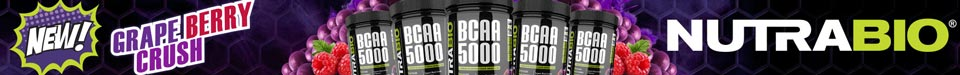 New! BCAA 5000, Grape Berry Crush!