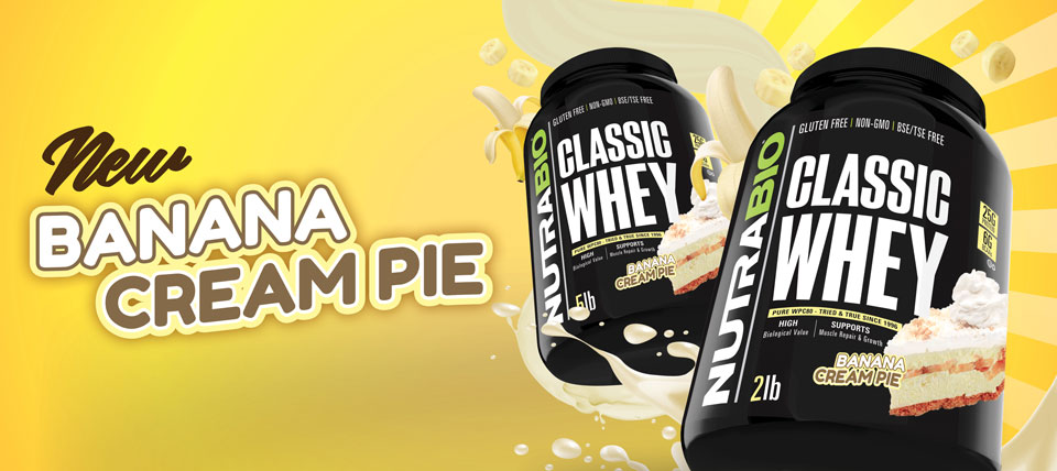 New! Classic Whey, Banana Cream Pie!