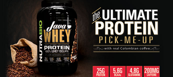 Java Whey! Caffeinated Protein!