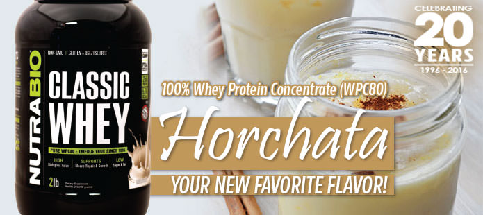 Horchata flavored Classic Whey, now available!