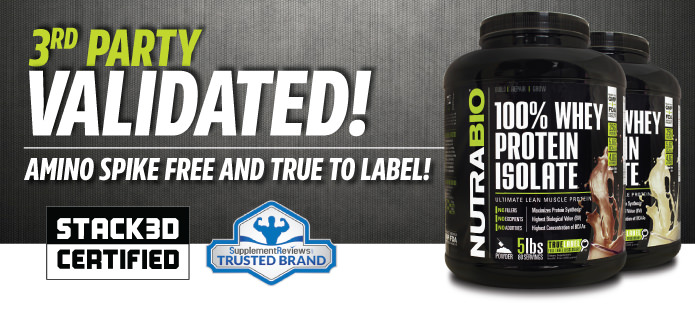 Whey Protein Isolate - third party validated!