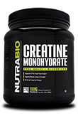 NutraBio Creatine Monohydrate Powder - 1000 Grams