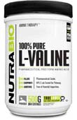 NutraBio Valine Powder - 500 Grams