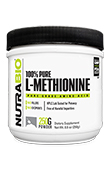 NutraBio Methionine - 250 Grams