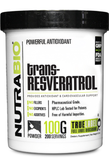 trans-Resveratrol Powder - 100 Grams