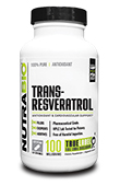 NutraBio trans-Resveratrol (100mg) - 120 Vegetable Capsules