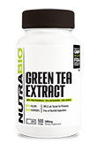 NutraBio Green Tea Extract (500mg) - 500 Vegetable Capsules