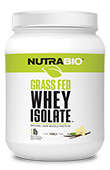 NutraBio Grass-Fed Whey Protein Isolate - 1 lb