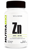 NutraBio Chelated Zinc 30mg 120 Caps