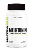 NutraBio Melatonin (3mg) - 120 Vegetable Capsules