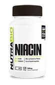 Niacin (500mg) - 120 Vegetable Capsules