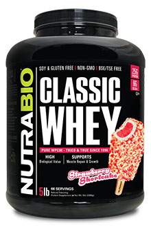 NutraBio Classic Whey Protein (WPC80) - 5 lb