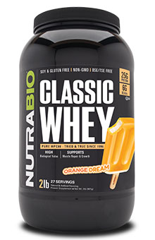 NutraBio Classic Whey Protein (WPC80) - 2 lb
