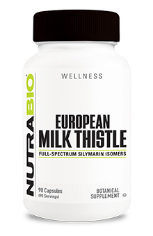 NutraBio Milk Thistle (European) - 90 Vegetable Capsules