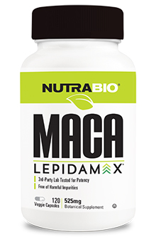 NutraBio Maca Lepidamax (525mg) - 120 Vegetable Capsules