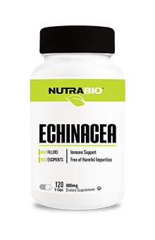NutraBio Echinacea (400 mg) - 120 Vegetable Capsules