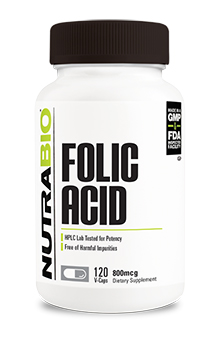 Folic Acid (800 mcg) - 120 Vegetable Capsules