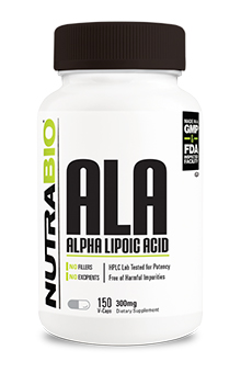 NutraBio Alpha Lipoic Acid (300mg) - 150 Vegetable Capsules