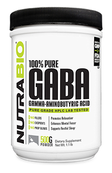 NutraBio GABA Powder - 500 Grams