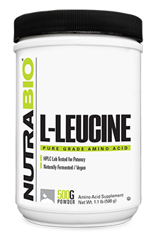 NutraBio Leucine Powder - 500 Grams