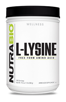 NutraBio Lysine Powder - 500 Grams