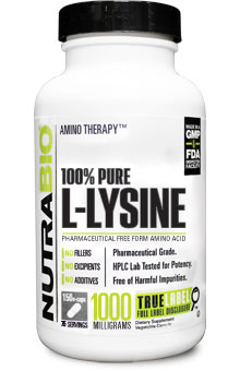 Lysine (500mg) - 150 Vegetable Capsules