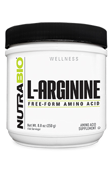 NutraBio Arginine Powder - 250 Grams